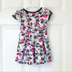 Disney Dresses - Baby Minnie Mouse Dress Graphic Girls Print Disney